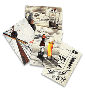 Störtebeker Postkarten-Set mit 4 Motiven (1 Pack)
