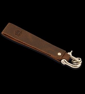 Störtebeker Schlüsselanhänger aus echtem Leder.